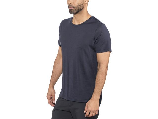 Bergans Oslo Wool T-paita Miehet, dark navy